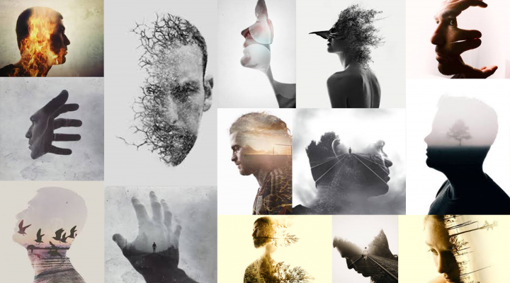 Double Exposure Portraits by Brandon Kidwell
